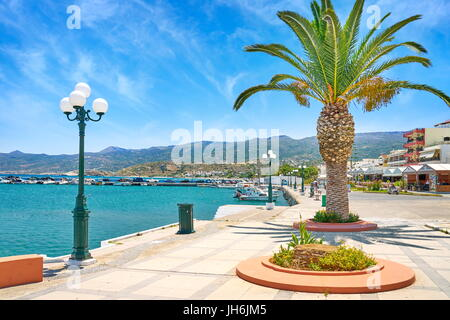 Promenade in Sitia, Crete Island, Greece - Stock Photo