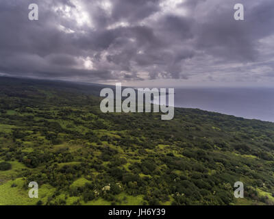 Aerial view of the Maui Coastline - Stock Photo