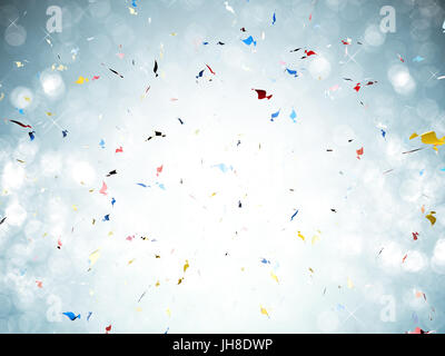 3d rendering confetti explosion on white background - Stock Photo