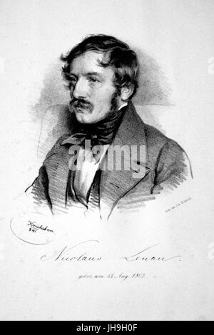 Nikolaus Lenau Litho - Stock Photo