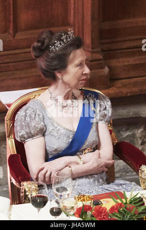 London, UK, Spain. 14th July, 2017. Anne, Princess Royal attends a Dinner hosted by Sadiq Khan, Mayor of the City - Stock Photo