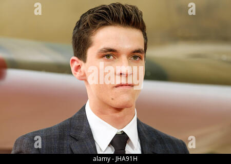 London, UK. 13th July, 2017. Fionn Whitehead at World Premiere of DUNKIRK on Thursday 13 July 2017 held at ODEON - Stock Photo
