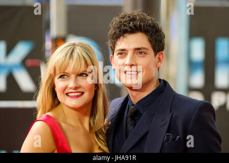 London, UK. 13th July, 2017. Aneurin Barnard at World Premiere of DUNKIRK on Thursday 13 July 2017 held at ODEON - Stock Photo