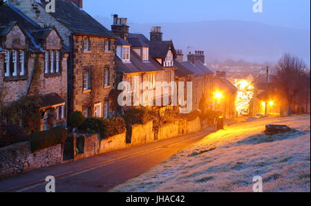 Charming townhouses in Bakewell, a pretty market town in the Peak District National Park, Derbyshire, England - - Stock Photo
