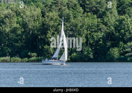 Sailing in the wind. - Stock Photo