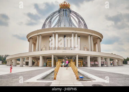 Torun, Poland - July 08, 2017: Newly built Shrine of Our Lady the Star of New Evangelization and St. John Paul II. - Stock Photo