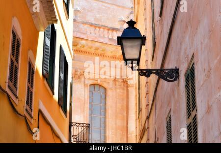 Ciutadella street scene menorca minorca - Stock Photo