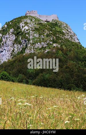 Montsegur, Alt. 1059 m - Stock Photo