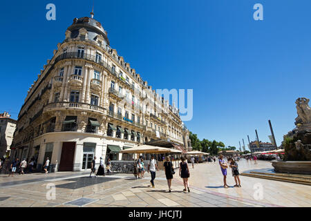 Comedy Square in Montpellier, Occitane,  France, - Stock Photo