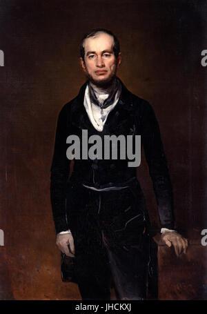 Ferdinand von Rayski - Portrait of the Chamberlain Count Julius Zech-Burkersroda - - Stock Photo