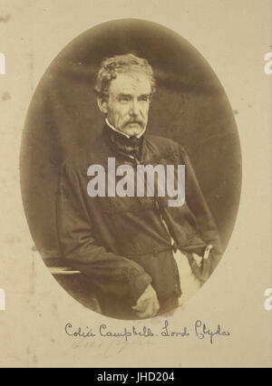 Felice Beato (British, born Italy - (Portrait of Sir Colin Campbell Lord Clyde, Commander-in-Chief in India) - - Stock Photo