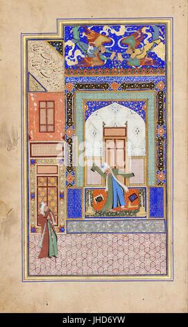 Nur ad-Din Abd al-Rahman Jami - Manuscript - - Stock Photo