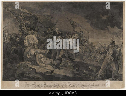 John Norman - The Battle at Bunker's Hill, or The Death of General Warren - - Stock Photo