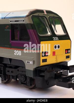 A selection of rare Irish Model Railways based on the Irish Republic and Northern Ireland, Island of Ireland. Based - Stock Photo