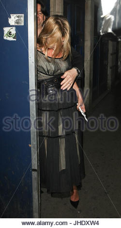 Kate Moss. Kate Moss and Jamie Hince pictured leaving the Cafe de Paris night club after 5am, London, UK - Stock Photo