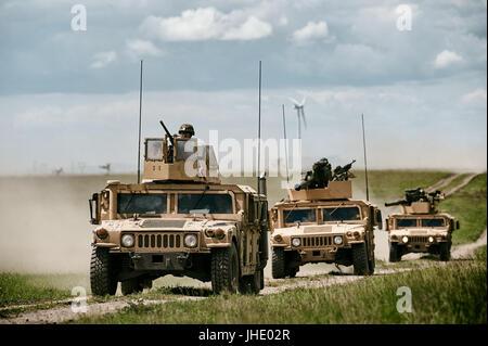 GALATI, ROMANIA - DECEMBER 11:Fighting machine in Romanian military polygon in the exercise PLATINUM LYNX 16 on - Stock Photo