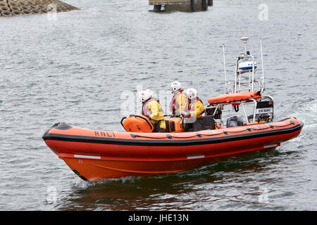 bangor rnli lifeboat jessie hillyard on safety demonstration northern ireland - Stock Photo
