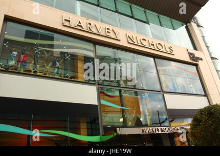 Harvey Nichols Store Front in Manchester City Centre, 2017 - Stock Photo