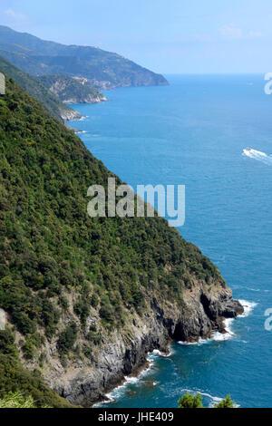 View from Cinque Terre near Monterosso al Mare - Stock Photo