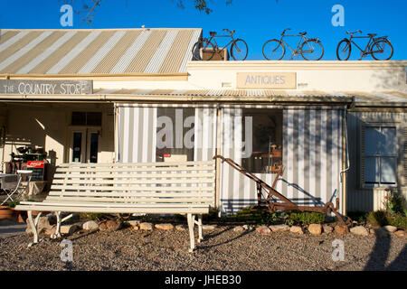Antique shop and restuarant in Prince Albert, Karoo town, Little Karoo, South Africa, Africa - Stock Photo
