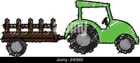 tractor farm isolated icon vector illustration design - Stock Photo