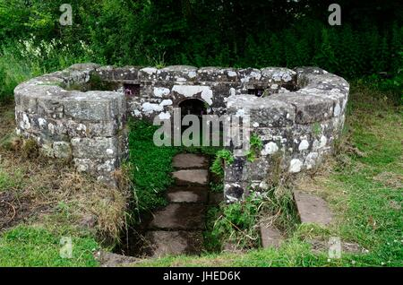 Virtuous Well St Anns Well Trellech Monmouthshire Wales Cymru UK GB - Stock Photo