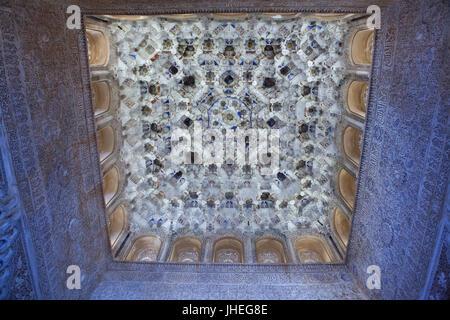 Nasrid mocarabe Arabesque Moorish architecture of the Court of the Stock Phot...