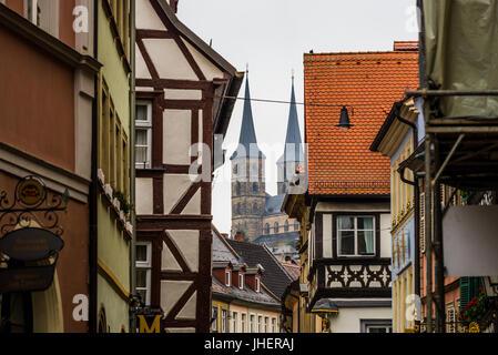 bamberg, Germany: Circa November 2015 - the old town in bamberg - Stock Photo