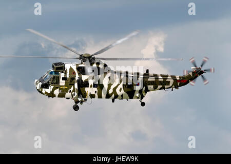 A Royal Navy Westland Sea King HC.4, helicopter at the RNAS Yeovilton International Air Day 2011. - Stock Photo