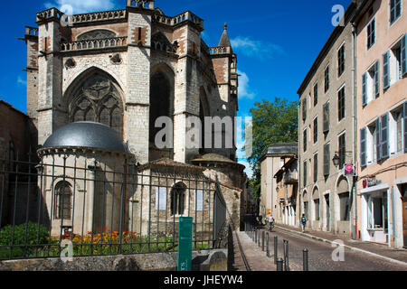 The Cathedral of St Etienne at Cahors, The Lot, France. - Stock Photo