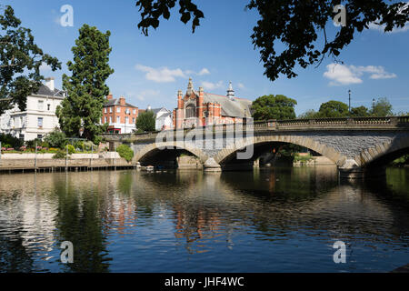 River Avon, Evesham, Worcestershire, England, United Kingdom, Europe - Stock Photo