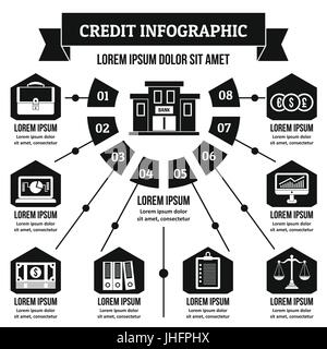 Credit infographic concept, simple style - Stock Photo