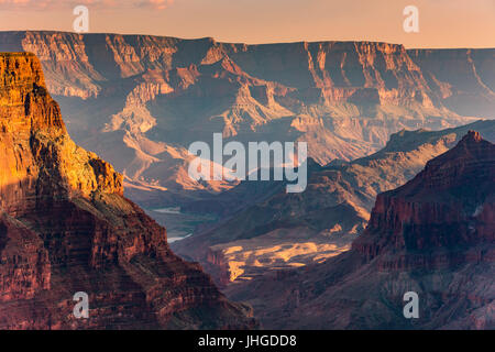 Confluence of the Main and Little Colorado rivers, Grand Canyon National Park, Arizona, USA - Stock Photo
