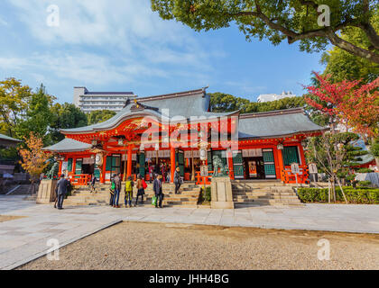 Ikuta-jinja Shine in Kobe, Japan - Stock Photo