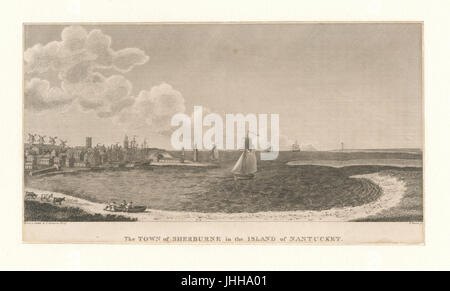 The town of Sherburne in the island of Nantucket (NYPL b12610613-422499) - Stock Photo