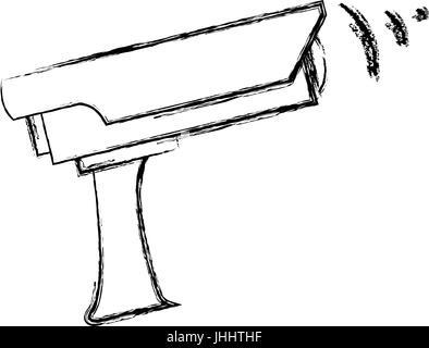 surveillance camera security device protection icon - Stock Photo