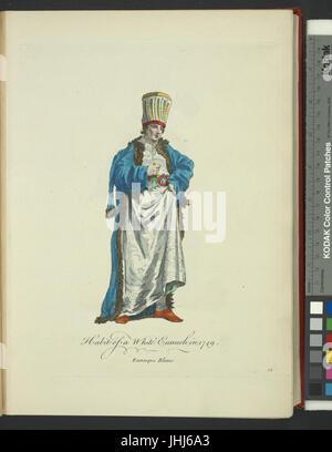 Habit of a white eunuch in 1749. Eunuque blanc (NYPL b14140320-1638020) - Stock Photo