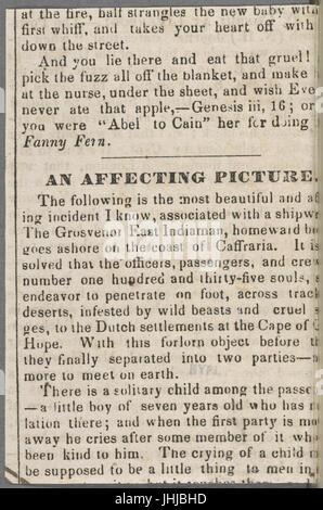 Ticknor, (William D.), ALS to. Mar. 30, 1854 (NYPL b15823745-5070893) - Stock Photo