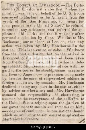 Ticknor, (William D.), ALS to. Mar. 30, 1854 (NYPL b15823745-5070894) - Stock Photo