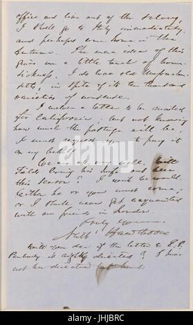 Ticknor, (William D.), ALS to. Mar. 2, 1855 (NYPL b15823745-5071019) - Stock Photo