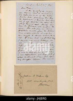 Ticknor, (William D.), ALS to. Mar. 30, 1855 (NYPL b15823745-5071022) - Stock Photo