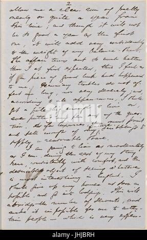 Ticknor, (William D.), ALS to. Mar. 30, 1855 (NYPL b15823745-5071024) - Stock Photo