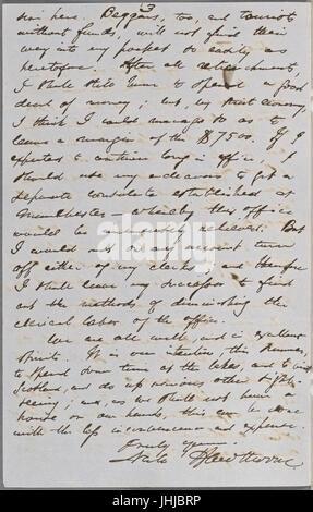 Ticknor, (William D.), ALS to. Mar. 30, 1855 (NYPL b15823745-5071023) - Stock Photo