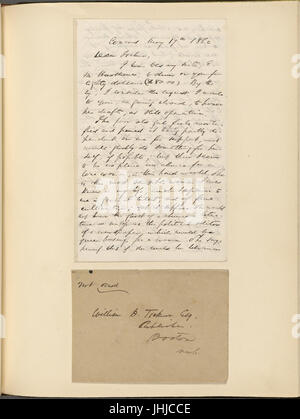 Ticknor, (William D.), ALS to. May 17, 1862 (NYPL b15823745-5071395) - Stock Photo