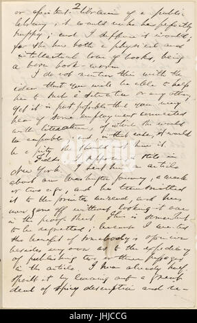 Ticknor, (William D.), ALS to. May 17, 1862 (NYPL b15823745-5071397) - Stock Photo