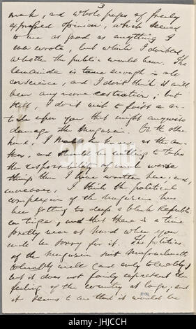 Ticknor, (William D.), ALS to. May 17, 1862 (NYPL b15823745-5071396) - Stock Photo
