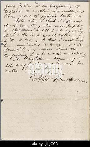 Ticknor, (William D.), ALS to. May 17, 1862 (NYPL b15823745-5071398) - Stock Photo