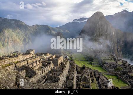 Machu Picchu Inca Ruins - Sacred Valley, Peru - Stock Photo