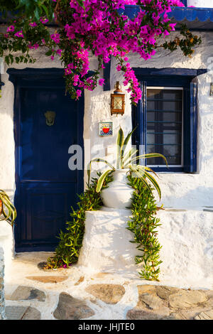 Old house in Skopelos town, Greece. - Stock Photo