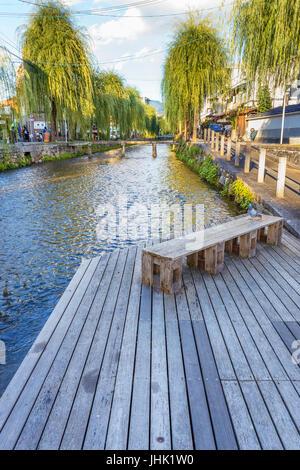 Shirakawa canal in Kyoto, Japan